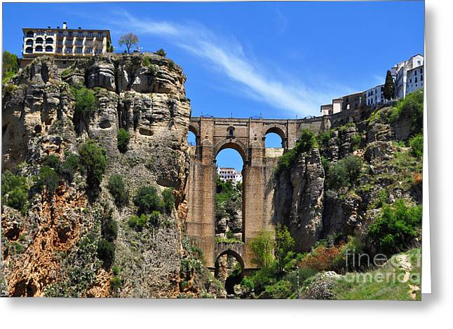 The Bridge In Ronda Spain Greeting Card by Mary Machare
