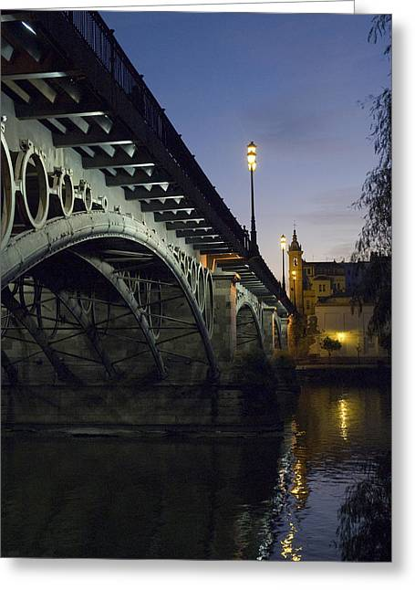The Bridge Of Triana, Puente De Triana Greeting Card