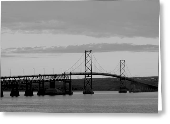 The Bridge Greeting Card by Sophie  Bouchard