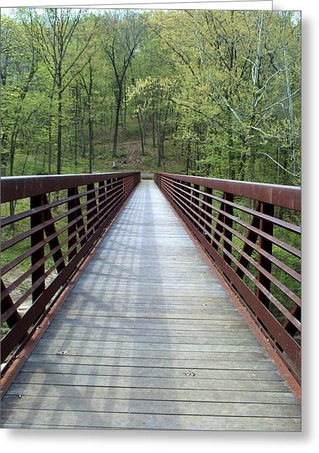 The Bridge That Divides Greeting Card