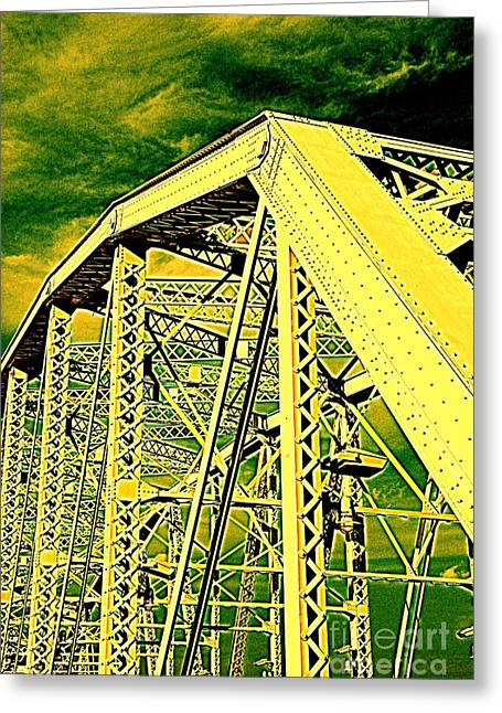 The Bridge To The Skies Greeting Card by Susanne Van Hulst