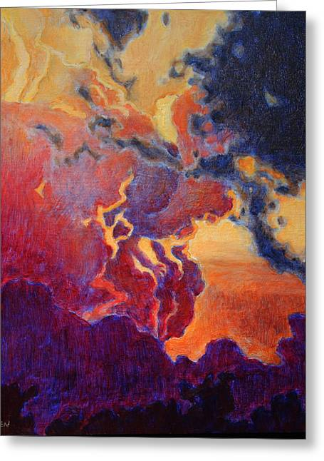 Greeting Card featuring the painting The Brilliance Of The End by Andrew Danielsen