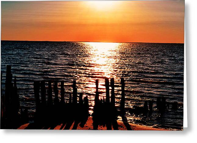 Greeting Card featuring the photograph The Broken Pier by Kelly Reber