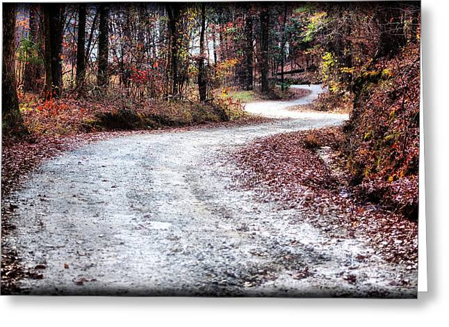 Greeting Card featuring the photograph The Broken Road by Lynne Jenkins