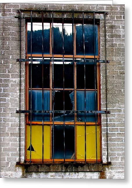 The Broken Window Greeting Card by Karon Melillo DeVega