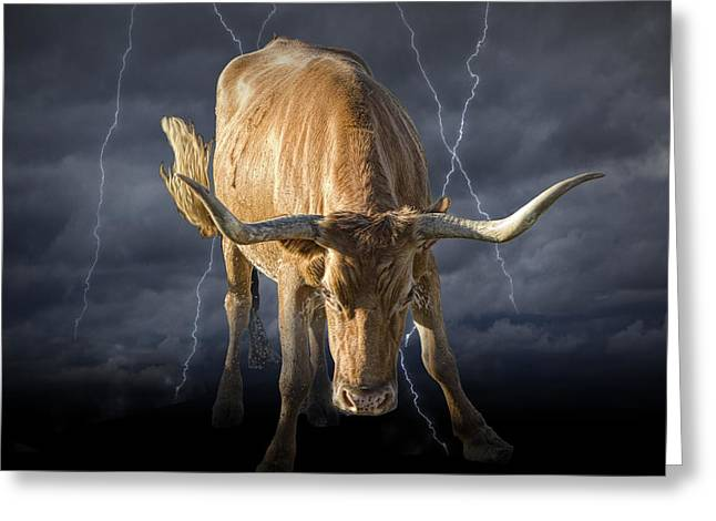 Randy Greeting Cards - The Bull a symbol of the Bull Market Greeting Card by Randall Nyhof