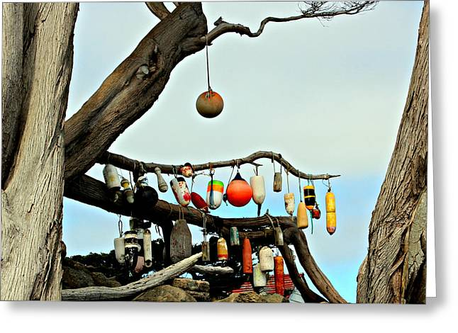 Greeting Card featuring the photograph The Buoy Tree by Jo Sheehan