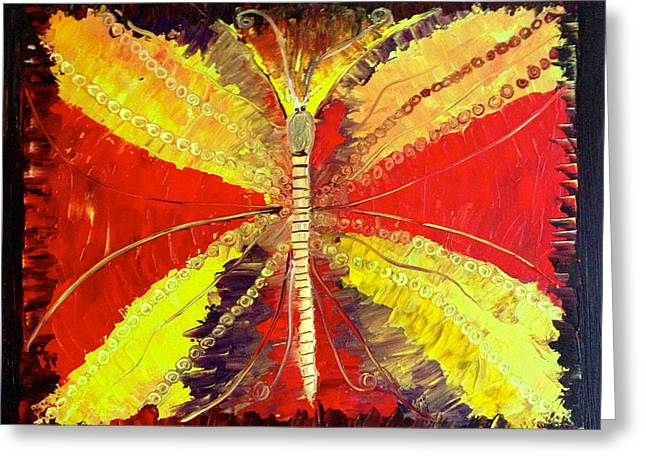 The Butterfly Greeting Card by Pretchill Smith