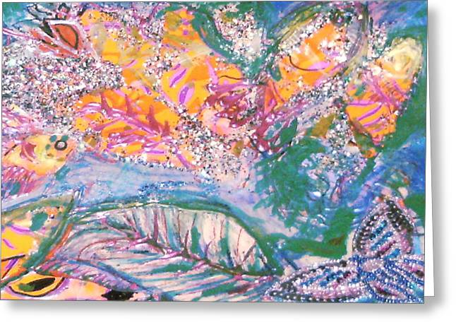 The Butterfly's Dream Greeting Card by Anne-Elizabeth Whiteway
