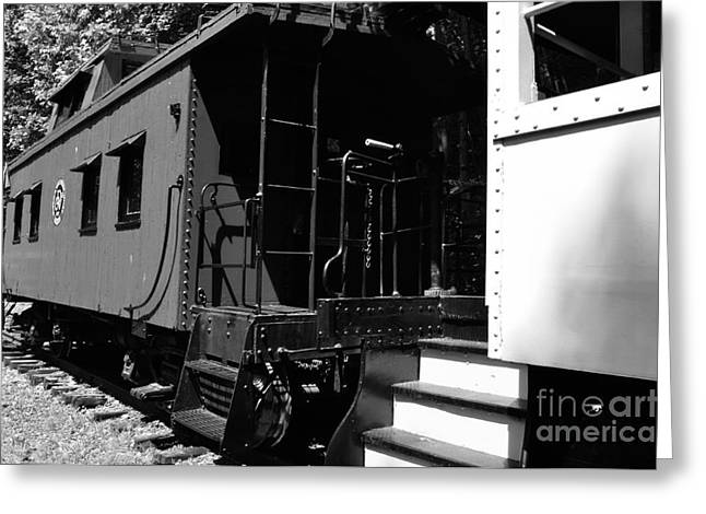 The Caboose Greeting Card by Thomas R Fletcher