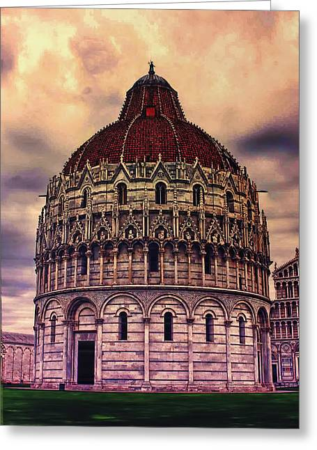 the Campo dei Miracoli - Italy Greeting Card by Tom Prendergast