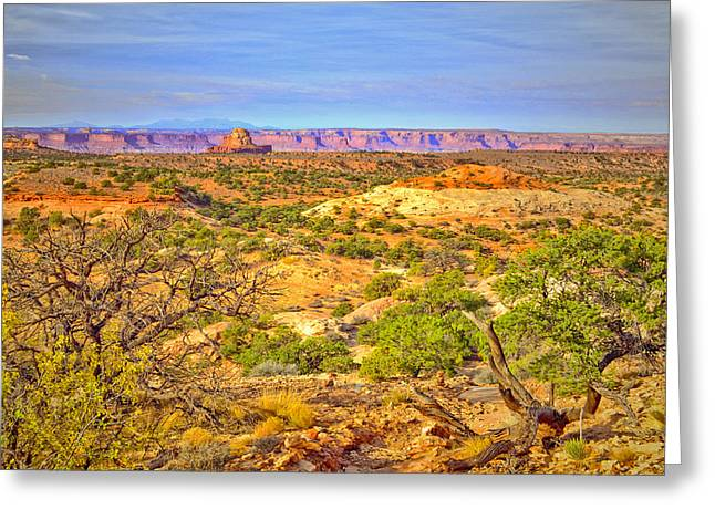 The Canyon In The Distance Greeting Card