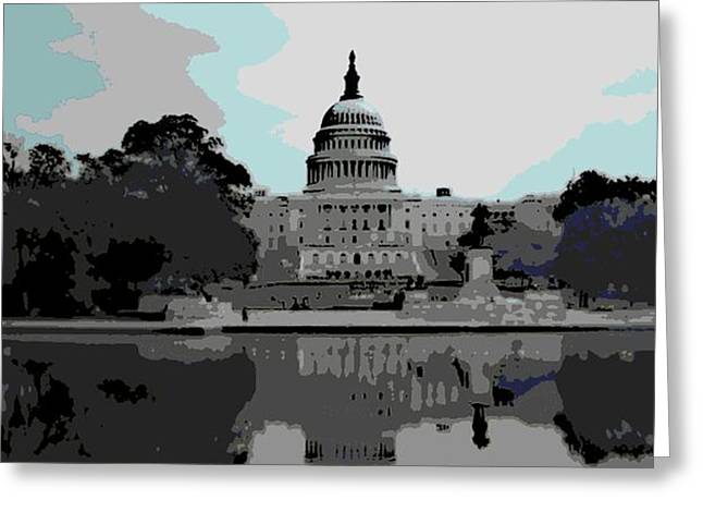 the Capitol  Greeting Card by George Pedro