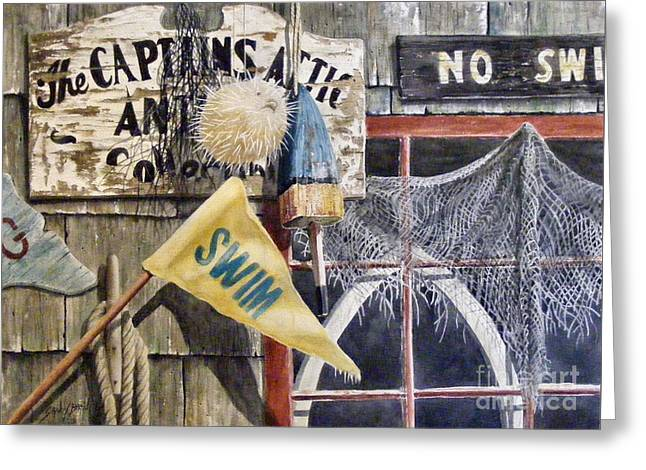 The Captains Attic Sold Greeting Card
