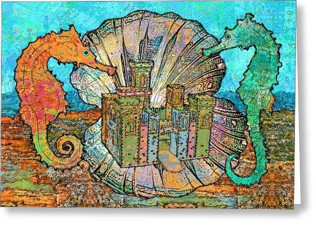 The Castle Of The Celtic Sea Greeting Card by Mary Ogle