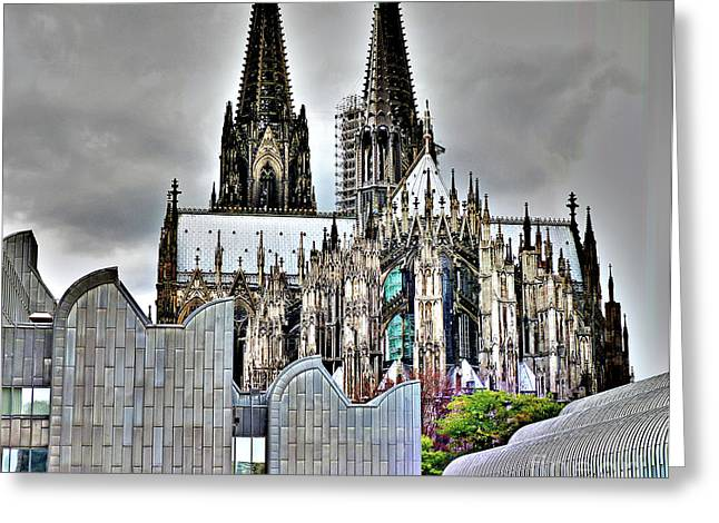 The Cathedral In Cologne On The Rhine Greeting Card