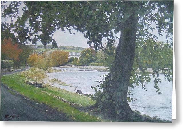 Greeting Card featuring the painting The Cauld Peebles by Richard James Digance