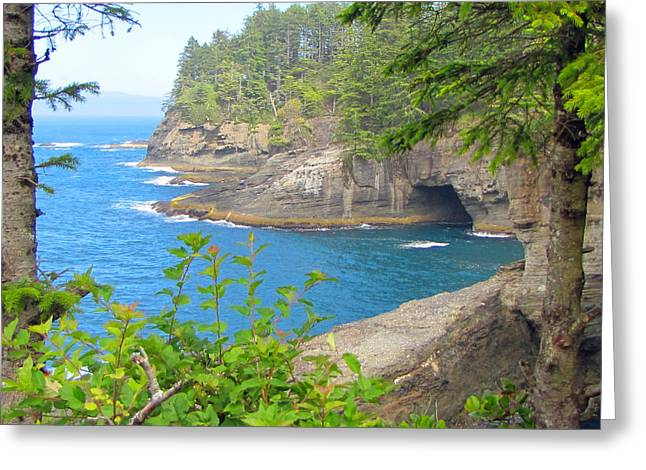 The Caves Of Cape Flattery  Greeting Card by Tikvah's Hope