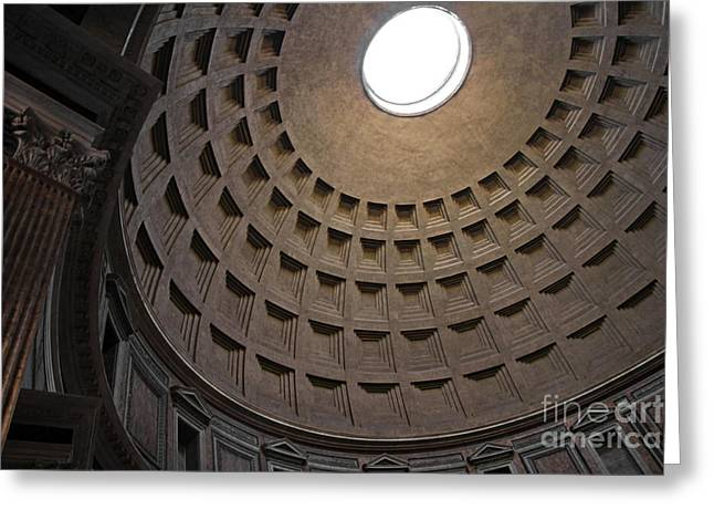 The Ceiling Of The Pantheon Greeting Card by Chris Hill