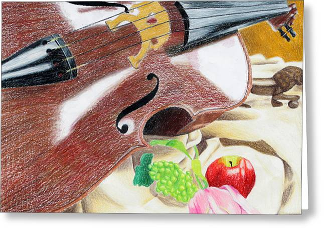 The Cello Greeting Card by Kayla Nicole