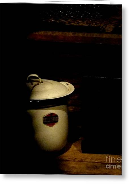 Greeting Card featuring the photograph The Chamber Pot by Newel Hunter