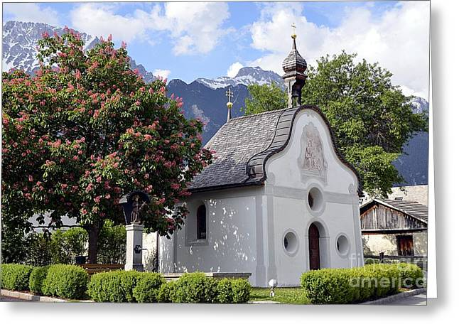 The Chapel In Alps Greeting Card