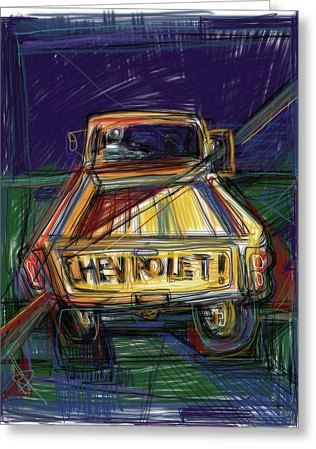 The Chevy Greeting Card by Russell Pierce