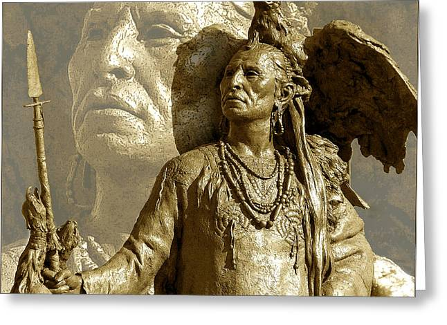 Greeting Card featuring the photograph The Chief by Ginny Schmidt
