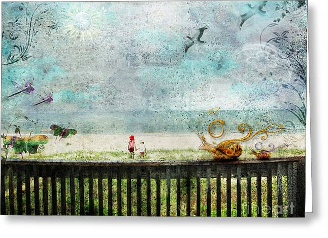 Greeting Card featuring the digital art The Child In Us by Rhonda Strickland