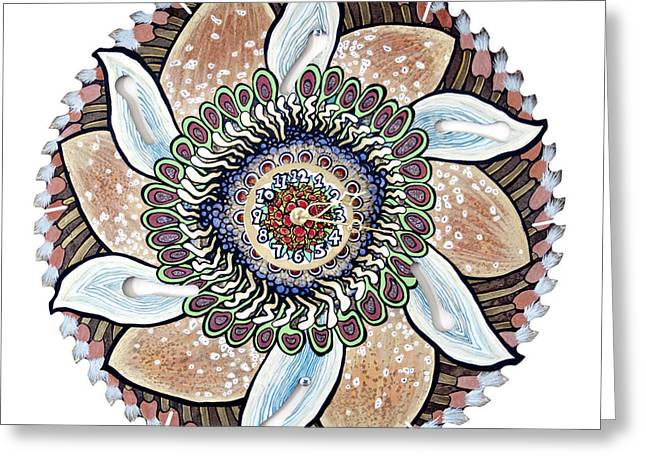 The Chris-can-themum Wall Clock Greeting Card by Jessica Sornson