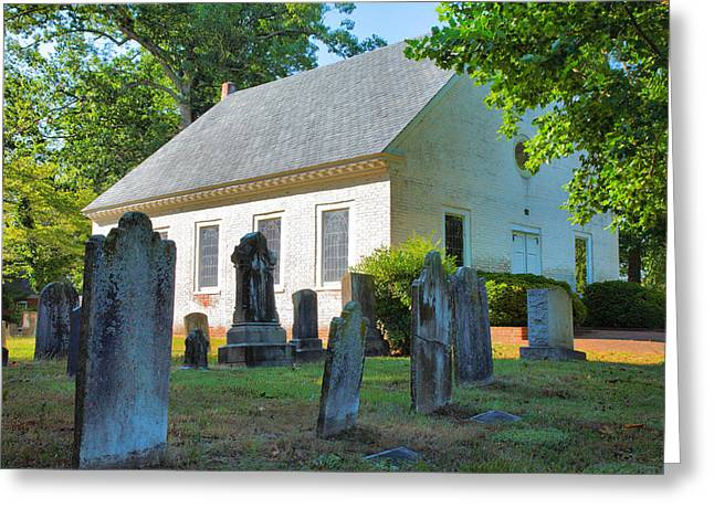 The Church Cemetery Greeting Card by Steven Ainsworth