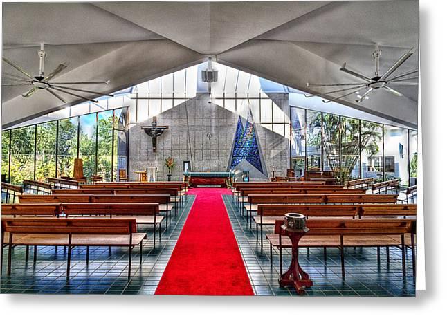 The Church Of Natural Light Hdr Greeting Card by Douglas Barnard