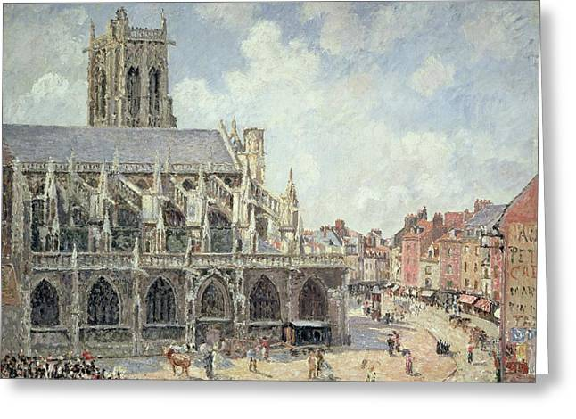 The Church Of Saint Jacques In Dieppe Greeting Card