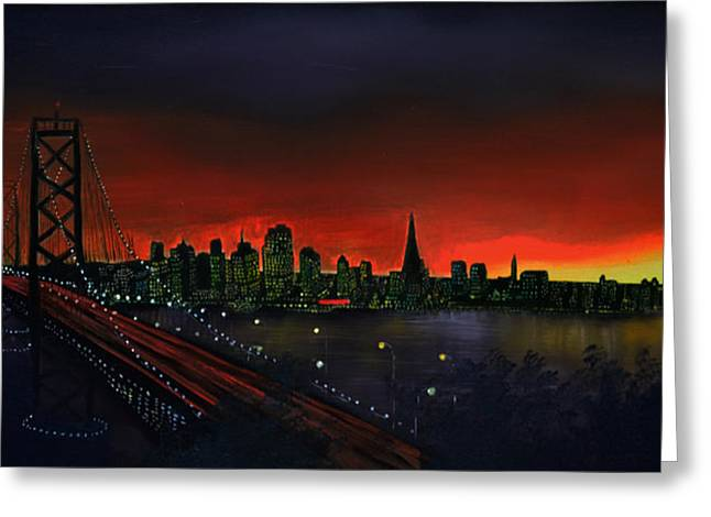 The City By The Bay Greeting Card by Jamil Alkhoury