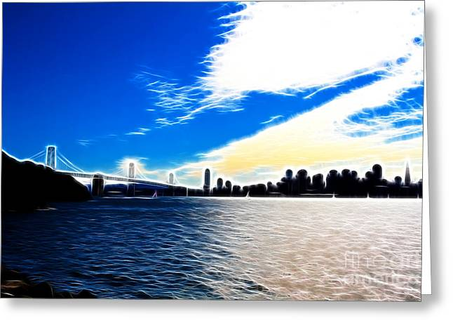 The City By The Bay Greeting Card by Wingsdomain Art and Photography