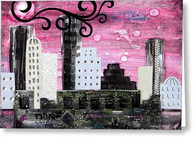 The City Of Ideas Greeting Card by Heather Saulsbury