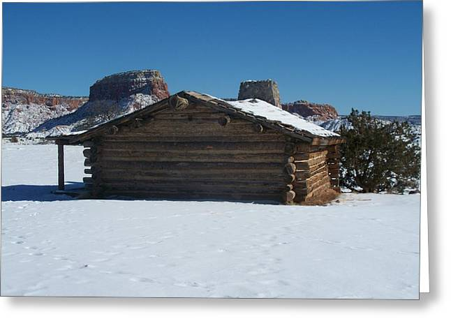 The City Slickers Cabin Greeting Card by FeVa  Fotos