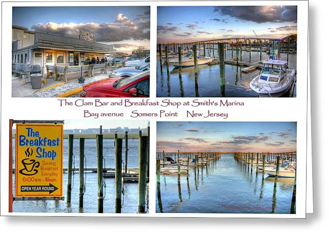 The Clam Bar And Breakfast Shop Greeting Card by John Loreaux