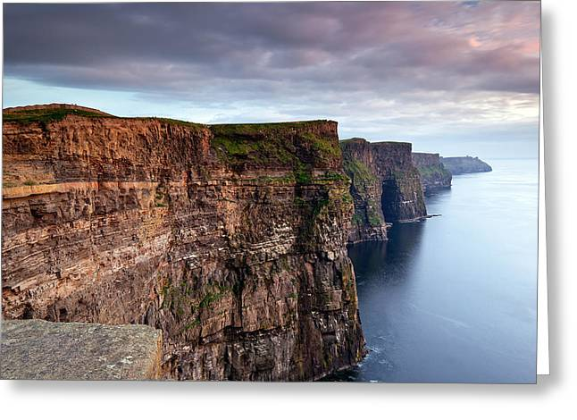 The Cliffs Of Moher Greeting Card by Brendan O Neill