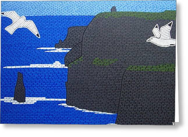 The Cliffs Of Moher Ireland Greeting Card by Eamon Reilly