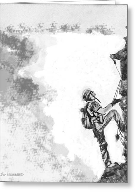 The Climber Greeting Card by Jim Hubbard