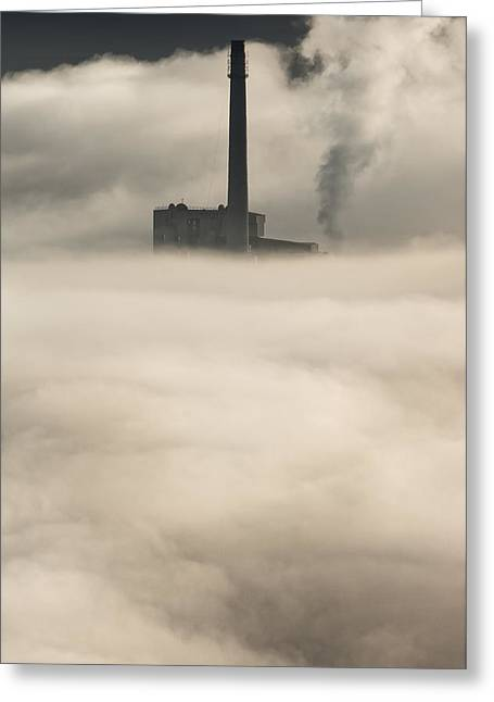 The Cloud Factory Greeting Card by Andy Astbury