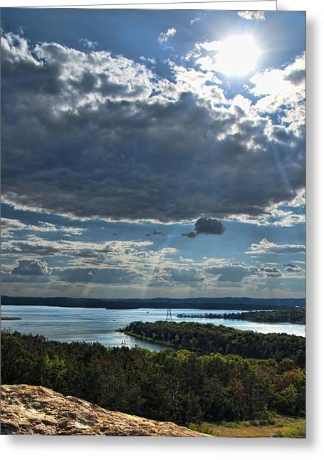 The Clouds Parted Greeting Card by Katie Abrams