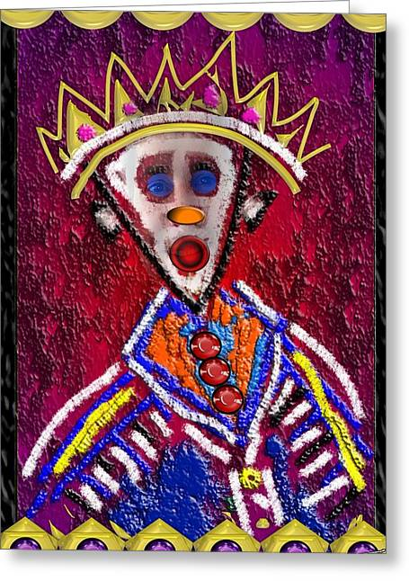 The Clown King Greeting Card