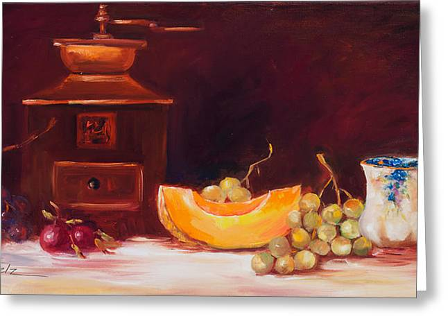 The Coffee Grinder Still Life Greeting Card