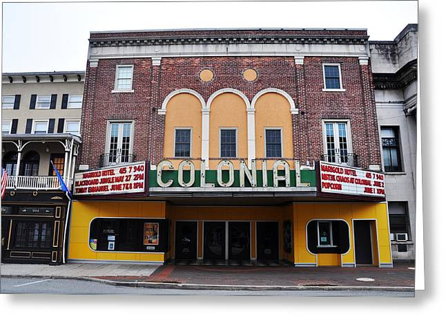 The Colonial Theater Phoenixville Greeting Card