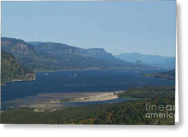 The Columbia River Gorge Greeting Card