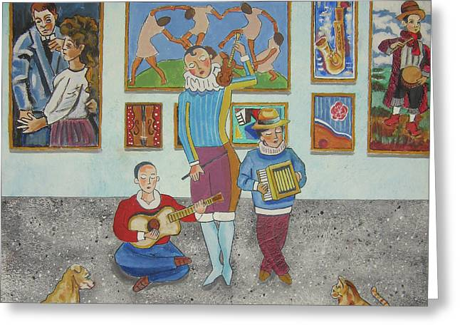 The Concert Greeting Card by John Keaton