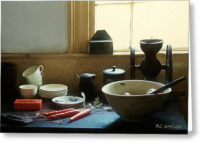 The Cook's Table Greeting Card by RC deWinter