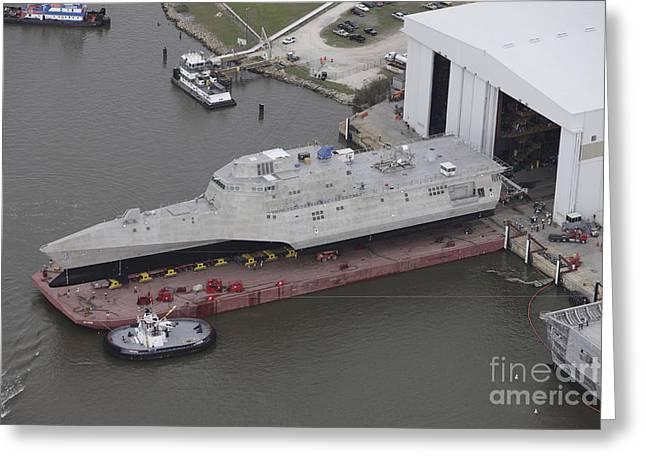The Coronado Littoral Combat Ship Greeting Card by Stocktrek Images